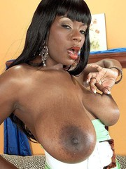 Hot naked black girl big boobs