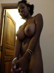 Young ebony teacher shows her incredible juicy boobs in..